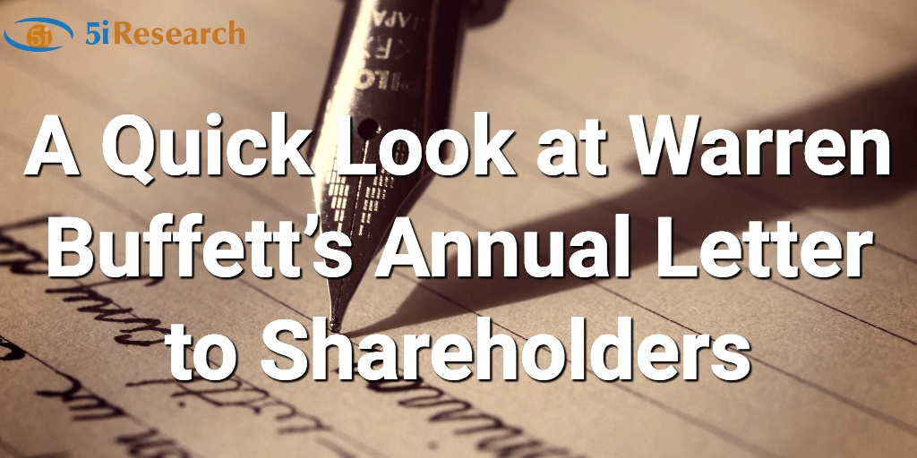 warren buffett annual letter a look at warren buffett s annual letter to 6686